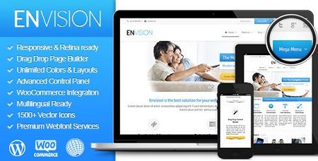 پوسته چند منظوره Envision وردپرس نسخه  ۲٫۱٫۰