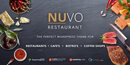 پوسته رستوران و کافی شاپ NUVO وردپرس نسخه ۵٫۵٫۷