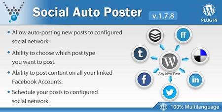 افزونه اشتراک گذاری مطالب Social Auto Poster وردپرس نسخه 2.2.2