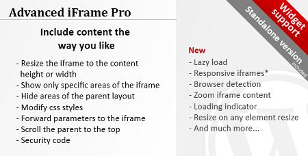 افزونه آی فریم پیشرفته  Advanced iFrame Pro وردپرس نسخه 7.0.2