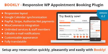 افزونه رزرواسیون و زمانبندی وردپرس Bookly نسخه 8.2