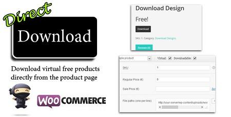 افزونه دانلود مستقیم Direct Download ووکامرس نسخه 1.15