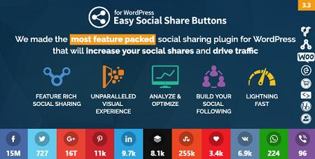 افزونه دکمه اشتراک گذاری مطالب Easy Social Share Buttons وردپرس نسخه 3.4.1