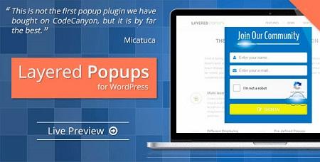 افزونه پاپ آپ حرفه ای Layered Popups وردپرس نسخه 5.32
