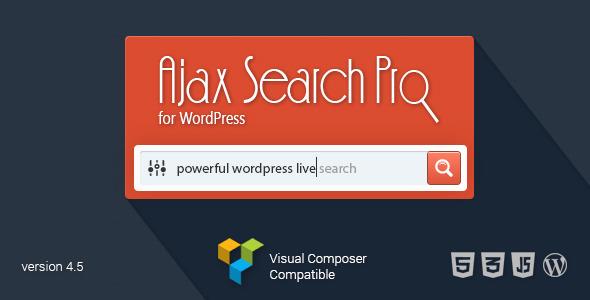 افزونه جستجوگر ایجکس Ajax Search Pro وردپرس نسخه 4.8.1