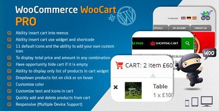 افزونه سبد خرید پیشرفته ووکامرس WooCart Pro نسخه 2.0.0