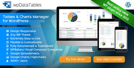 افزونه ایجاد جداول پیشرفته wpDataTables وردپرس نسخه ۱٫۶٫۱