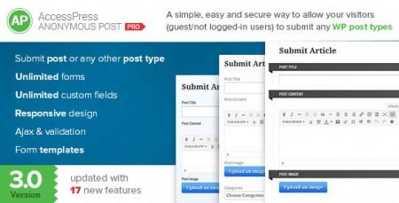 افزونه فارسی AccessPress Anonymous Post Pro ارسال نوشته توسط کاربران در وردپرس