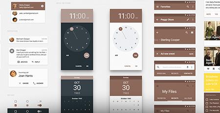 دانلود طرح UI Kit متریال دیزاین مخصوص وب و موبایل