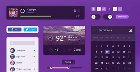 دانلود UI Kit فلت مخصوص طراحی سایت فیلم و سریال