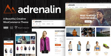 پوسته فروشگاهی Adrenalin ووکامرس نسخه ۱٫۹٫۱۴