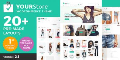 پوسته فروشگاهی YourStore ووکامرس نسخه 2.1