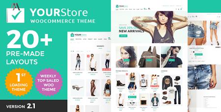پوسته فروشگاهی YourStore ووکامرس نسخه ۲٫۱