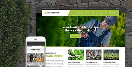 پوسته خدمات کشاورزی The Landscaper وردپرس نسخه ۱٫۴٫۸٫۱