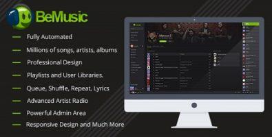 اسکریپت اشتراک موزیک BeMusic نسخه 2.1.7