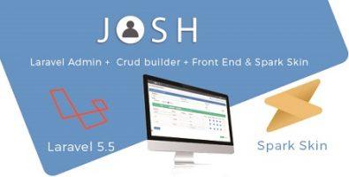 اسکریپت پنل مدیریت لاراول Josh بههمراه CRUD آماده نسخه 5.9
