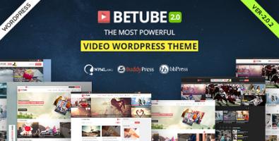 پوسته اشتراک ویدئو Betube وردپرس نسخه 2.0.2