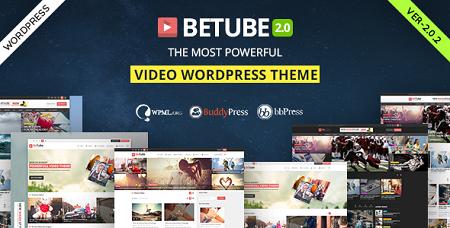 پوسته اشتراک ویدئو Betube وردپرس نسخه ۲٫۰٫۲