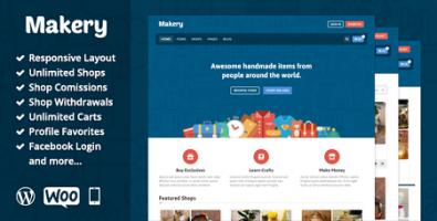 پوسته مارکت و بازارچه Makery ووکامرس نسخه 1.22