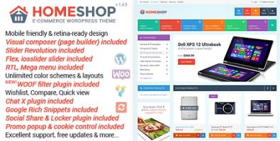پوسته فروشگاهی Home Shop ووکامرس نسخه 1.4.9