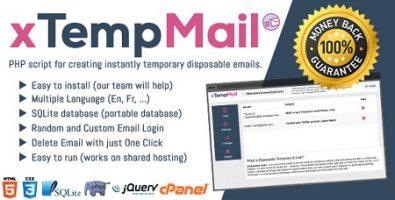 اسکریپت سرویس ایمیل موقت xTempMail
