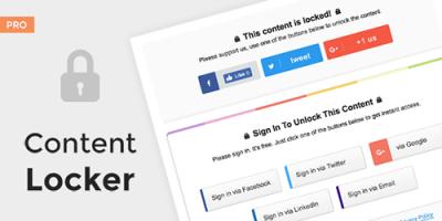 افزونه بستن محتوا وردپرس  Content Locker Pro نسخه 1.0.13
