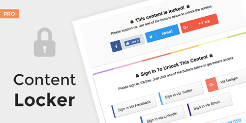 افزونه بستن محتوا وردپرس  Content Locker Pro