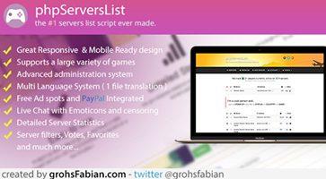 اسکریپت نمایش وضعیت سرورهای بازی Servers List Tracker نسخه 1.3.1