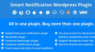 افزونه نوتیفیکیشن هوشمند وردپرس Smart Notification نسخه 7.7.7
