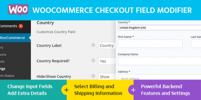 افزونه ویرایش فیلدهای تسویه حساب WooCommerce Checkout Field Modifier ووکامرس نسخه 1.0.2