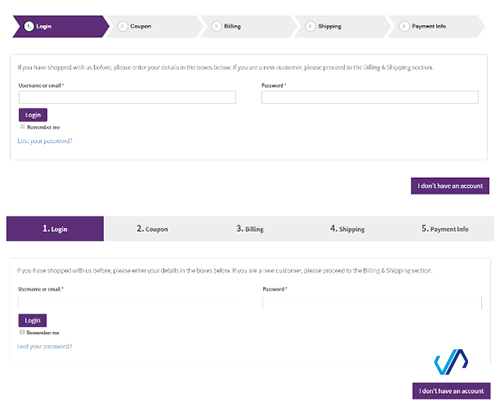 افزونه تسویه حساب چندمرحله ای  WooCommerce MultiStep Checkout Wizard ووکامرس