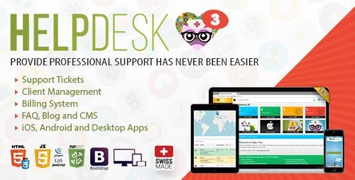 اسکریپت مدیریت تیکت و پشتیبانی HelpDesk 3