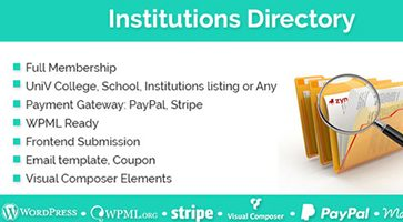 افزونه دایرکتوری موسسات و شرکت ها  Institutions Directory وردپرس نسخه 1.1.8