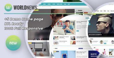 پوسته مجله خبری WorldNews وردپرس نسخه 1.4