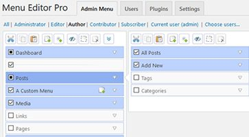 افزونه ویرایش منو مدیریت وردپرس Admin Menu Editor Pro نسخه 2.6.5