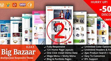 پوسته فروشگاهی BigBazaar ووکامرس نسخه 2.0.0
