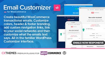 افزونه شخصی سازی ایمیل ووکامرس Email Customizer نسخه 3.18