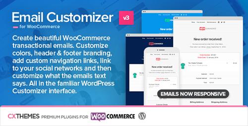 افزونه شخصی سازی ایمیل ووکامرس Email Customizer