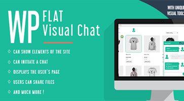 افزونه چت زنده و نمایش از راه دور WP Flat Visual Chat وردپرس نسخه 5.371