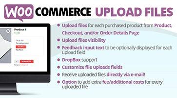 افزونه آپلود فایل WooCommerce Upload Files ووکامرس نسخه 34.8
