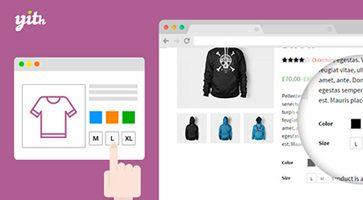 افزونه برچسب و رنگ متغییر محصولات ووکامرس YITH WooCommerce Color and Label Variations نسخه 1.7.0