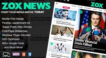 پوسته مجله خبری Zox News وردپرس نسخه 1.6.0