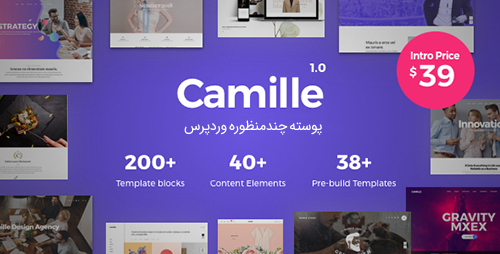 پوسته چندمنظوره Camille وردپرس