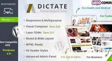 پوسته شرکتی و خدماتی Dictate وردپرس نسخه 4.8.1
