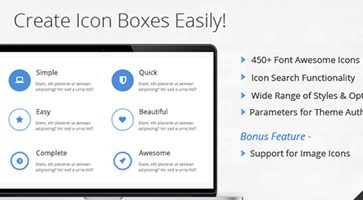 افزونه جعبه آیکون Icon Box برای صفحه ساز WPBakery وردپرس نسخه 1.5.1
