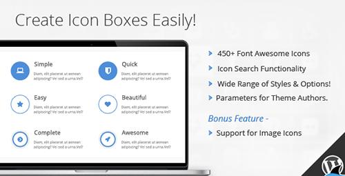 افزونه جعبه آیکون Icon Box برای صفحه ساز WPBakery وردپرس