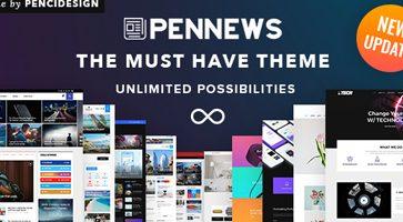 پوسته مجله خبری PenNews وردپرس نسخه 4.2
