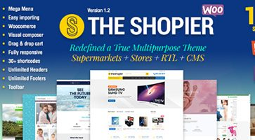 پوسته فروشگاهی Shopier ووکامرس نسخه 1.4.5