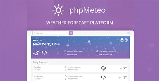 اسکریپت پیش بینی آب و هوا phpMeteo