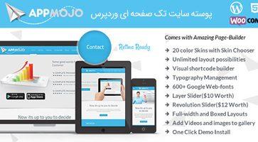 پوسته سایت تک صفحه ای App Mojo وردپرس نسخه 3.2